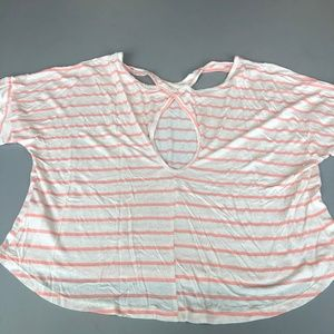 Elodie Anthropologie Athleisure Open Back Top B9